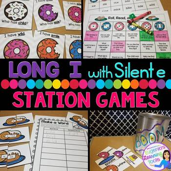 Phonics Stations: Long i spelled i and i_e