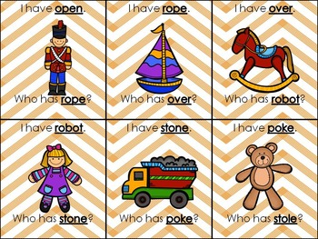 Phonics Stations:Long O spelled o and o_e