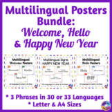 BUNDLE of Multilingual Posters for Classroom Decor: Crayon Theme