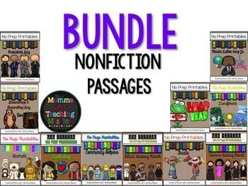 BUNDLE of Nonfiction Passages with Comprehension