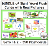 BUNDLE of Sight Word Flashcards with Pictures (ALL 350 Edmark Words)