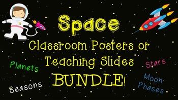 BUNDLE of Space Posters, Teaching Slides, or Bulletin Board