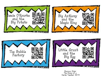 BUNDLE of Tomie dePaola QR Readers for Listen to Reading