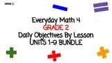 BUNDLE of Units 1-9- EDM4- Daily Lesson Objectives