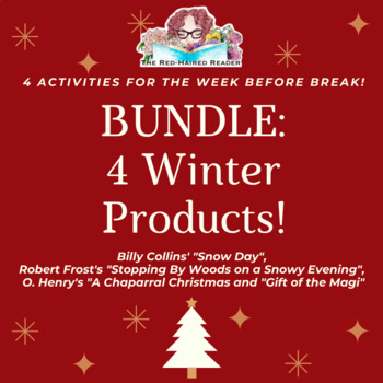 BUNDLE of Winter/ Holiday/ Christmas Resources for the Secondary English Teacher
