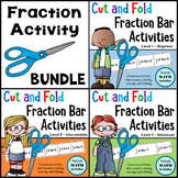 Cut and Fold Fraction Bar Activities BUNDLE