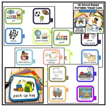 BUNDLE of school based visual communication cue cards. 300+