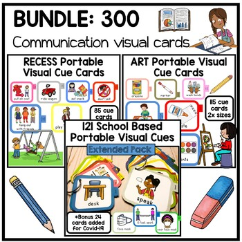 School based visual communication cue cards. 300+