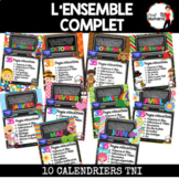 TNI - BUNDLE/10 calendriers interactifs mensuels pour SmartBoard