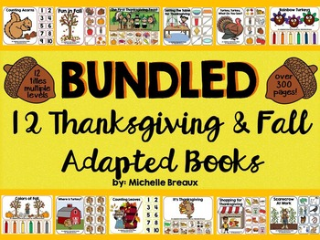 BUNDLED 12 Thanksgiving and Fall Themed Adapted Books {Aut