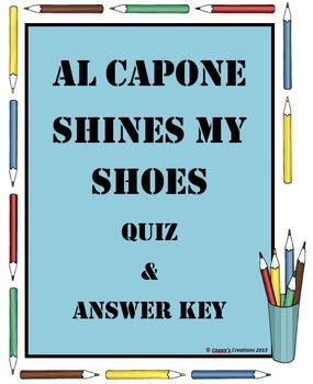 BUNDLED - 3(!) Al Capone Does My Shirts, Shoes & Homework Quizzes & Answer Key