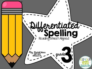 BUNDLED 3rd Grade Differentiated Spelling Program - Readin