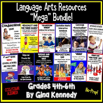 "Language Arts Resource ""Mega Bundle"", Lessons For the Entire Year"