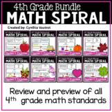 4th Grade Daily Math Spiral (Bundle)