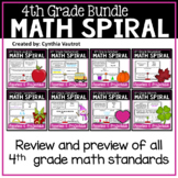 4th Grade Daily Math Spiral (Bundle)