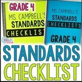4th Grade Florida Standards Checklist: Math, Science, ELA, Social Studies BUNDLE
