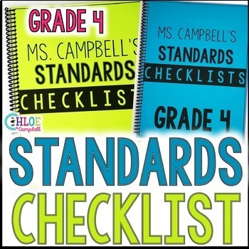BUNDLED! 4th Grade Florida Standards Checklist