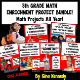 5th Grade Math Projects Bundle! Enrichment All Year, CCSS, PDF or Digital!