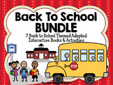 BUNDLED 7 Back to School Adapted Books {Early Childhood, Autism, SLP}