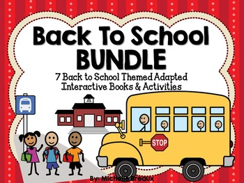BUNDLED 7 Back to School Adapted Books {Early Childhood, A
