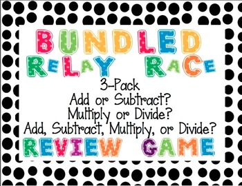 BUNDLED Add, Subtract, Multiply, or Divide Word Problem Re