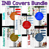 BUNDLED All Subjects Interactive Notebook Covers, Table of