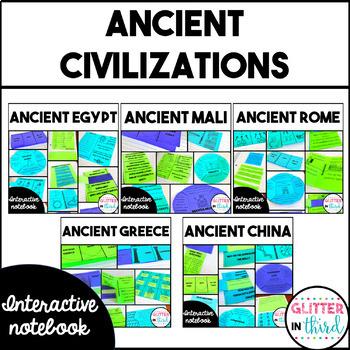 BUNDLE Ancient Civilizations Interactive Notebook