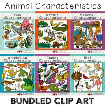 BUNDLED Animal Characteristics Clip Art Sets
