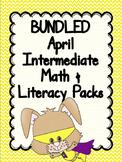 BUNDLED April Print & Go Intermediate Math & Literacy Packs