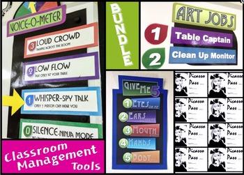 BUNDLED Art Classroom Management Tools (Updated 2016)