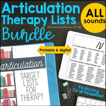 Articulation List Binder BUNDLE  - all phonemes {featuring coarticulation}