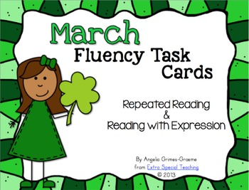 BUNDLED February - April Fluency Practice Task Cards