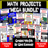 """Math  Projects """"MEGA BUNDLE""""!  Print and Go Math Enrichment All Year!"""