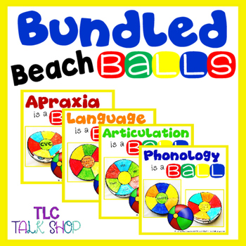 BUNDLED Beach Balls for Speech & Language Skills