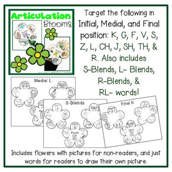 BUNDLED Blooms for Speech & Language Skills