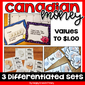 Canadian Money Math Centers ~ MINI Bundle