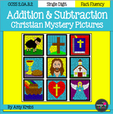 BUNDLED - Christian Addition and Subtraction Mystery Pictures