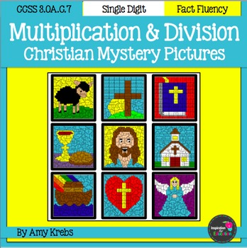 BUNDLED - Christian Multiplication and Division Mystery Pictures