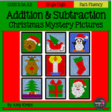 BUNDLED - Christmas Addition and Subtraction Mystery Pictures