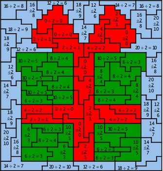 BUNDLED - Christmas Multiplication and Division Mystery Pictures