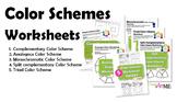 BUNDLED 5 Color Schemes Worksheets PACKET