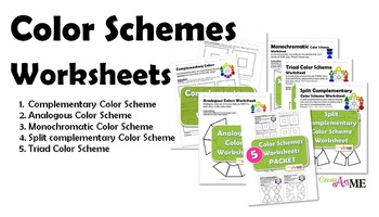 BUNDLED 5 Color Schemes Worksheets PACKET