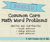 BUNDLED Common Core 2.OA.A.1 Algebra Word Problems
