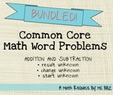 BUNDLED Common Core 2.OA.A.1 Algebra Word Problems