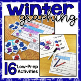 Graphing Centers for Data Management - Winter Theme BUNDLE