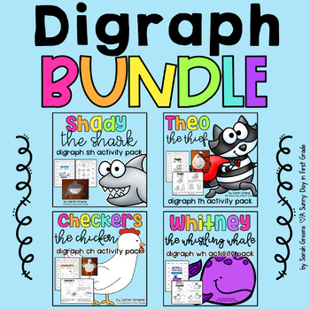 BUNDLED Digraph Pack! {sh, th, ch, wh}