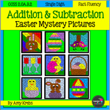 BUNDLED - Easter Addition and Subtraction Mystery Pictures