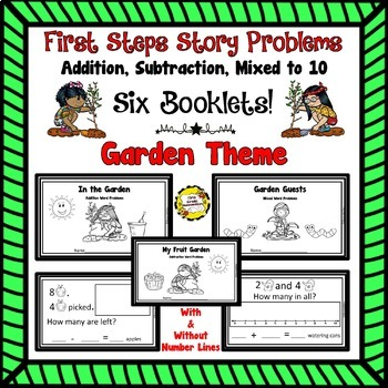 BUNDLED First Steps Story Problems: Addition, Subtraction, Mixed to 10