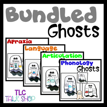 BUNDLED Ghosts: Speech & Language Crafts for Speech Therapy