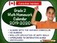 BUNDLED Grade 1, 2 and 3 Math Calendars 2019-2020 - Canadian Content